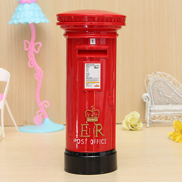 Post Office Box Coin Piggy Bank Saving Money Storage Box