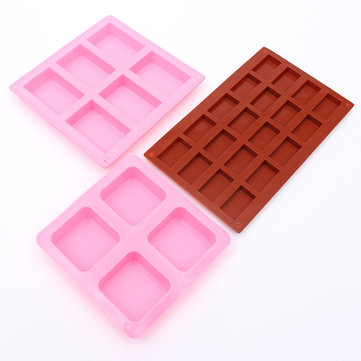 Rectangle Square Silicone Mold For DIY Chocolate Cake Mould Soap