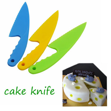3 PCS Plastic Cake Knife Server Pastry Bread Cutter