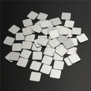 50pcs 2*2cm 3D Plastic Silver Mirror Mosaic Wall Decoration Sticker