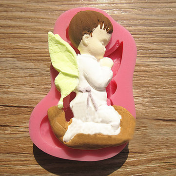 Prayed Boy Angel Silicone Fondant Cake Mold Soap Chocolate Mold