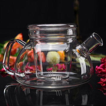 High Borosilicate Glass Flower Tea Pot With Infuser 600ML