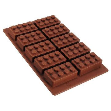벽돌 패턴 실리콘 아이스 큐브 젤리 트레이 메이커 초콜릿 몰드