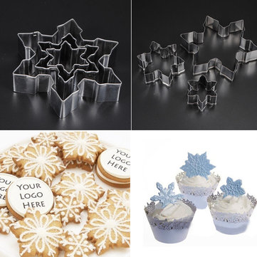 Stainless Steel Snowflake Cookie Cake Fondant Decoration Cutter Molds