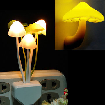 2Pcs Cute Mushroom Shape Design LED Light Night Light Bedroom Lamp