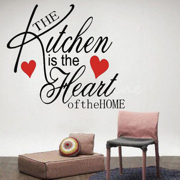 Large Decor Removable Kitchen Heart Home Wall Sticker Decal