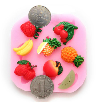 Fruit Silicone Chocolate Pastry Fondant Cake Mold Resin Flower Mold