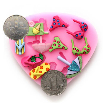 Beach Bikini Silicon Fondant Cake Decorating Supply Resin Flower Mold
