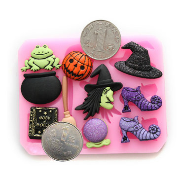 Magic Halloween Fondant Molds Silicone Chocolate Cake Decorating Mold