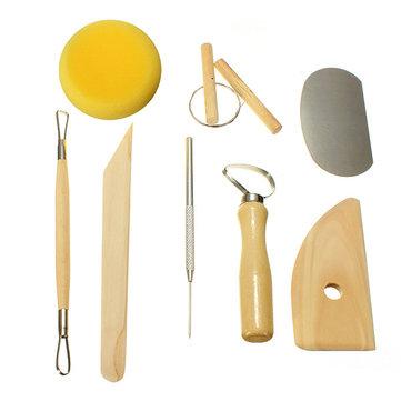 cera argilla strumenti scultura intaglio ceramica corredo di attrezzo 8pcs
