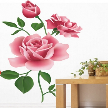 Vinyl Removable Rose Wall Sticker Home Decal Stickers