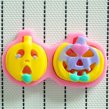 Hallowmas DIY Pumpkin Head Chocolate Cake Mold Creative Baking Tools