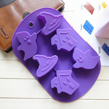 Halloween Haunted Mansion Cake Mold Chocolate Soup Mould