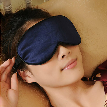 Silk Sleep Eyeshade Cover Eye Mask For Sleeping Rest Travel
