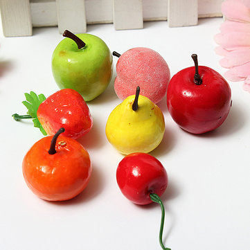 Artificial Pear Apple Plastic Fruits Home Party Decor