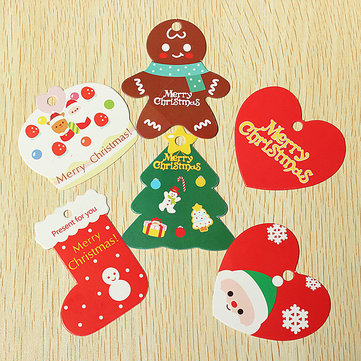 Christmas Design Gift Hang Tags Santa Claus Snowman