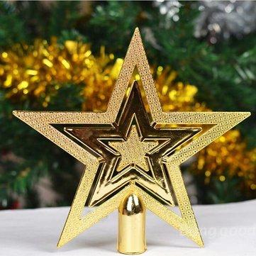 5Pcs Star On The Christmas Treetop Pendant Christmas Decoration
