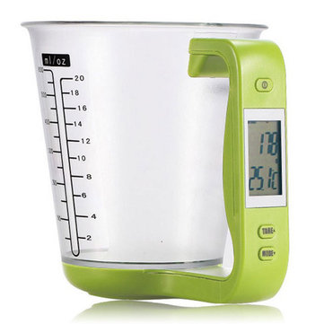 1kg/1g Multi-function LCD Digital Kitchen Scale With Removable Measuring Cup Function