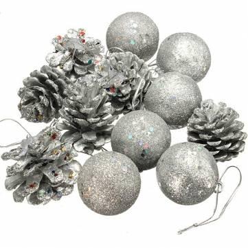 12 قطع عيد الميلاد الصنوبر المخروط الكرة شجرة عيد الميلاد زخرفة ديكور