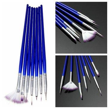 7pcs escova de unha arte projeto pintura pontilhando desenho conjunto ferramenta caneta