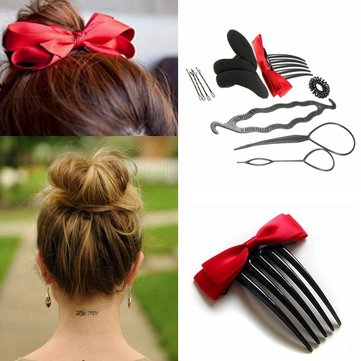 Hair Styling Tool Hairpin Ponytail Bun Maker Twist Set