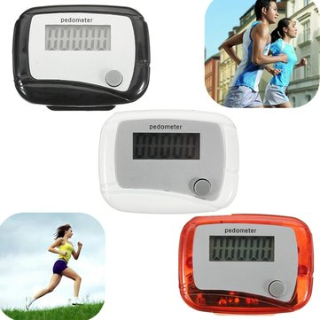 Digital LCD Step Pedometer Fitness Walking Distance Running Counter