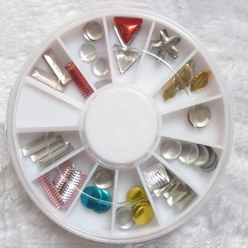 Alloy Geometric Pattern Nail Art Decoration Wheel