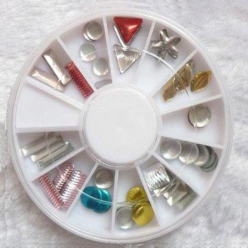 Alloy Geometric Pattern Nail Art Decoration Wheel