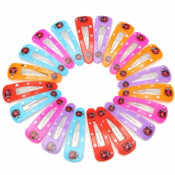 20 Pcs Lovely Girls Lady Beetle Hair Clips Accessories Hairpins