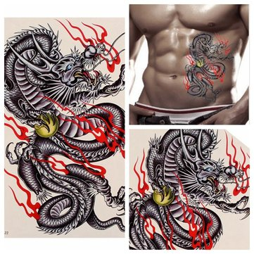 Dragon Design Waterproof Temporary Tattoo Sticker Removable
