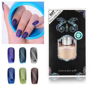 US$4.99 12ml Cat Eyes Magnetic Magic Nail Art UV Gel Polish Nail Art from Health & Beauty on banggood.com
