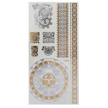 Chain Gold Silver Metallic Temporary Tattoos Body Art Sticker