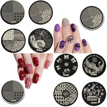 hehe Stainless Geometric Nail Image Stamp Stamping Plates Template