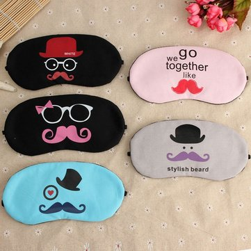 Mustache Designed Ice Cooling Sleeping Eyeshade Eyepatch Eye Mask