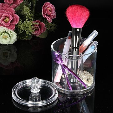 Acrylic Clear Cosmetic Container Makeup Storage Holder Organizer
