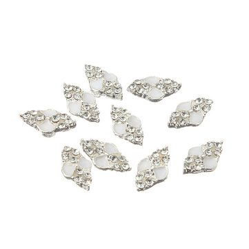 Transparent Diamond Crystal Rhinestones Metallic Nail Art Decoration