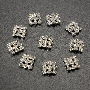 3D Alloy Crystal Square Diamond Rhinestone Phone Nail Art Decoration