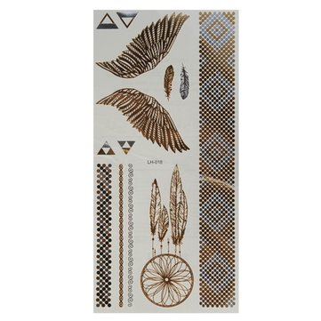 Chain Wind Chime Metallic Temporary Tattoos Body Art Sticker