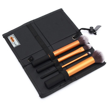 4Pcs Professional Blush Powder Cosmetics Makeup Brushes Kit with Case