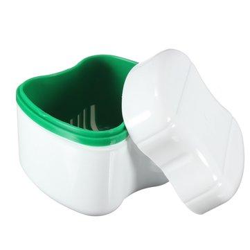 Caso de recipiente de banho de dentadura cesto de enxaguadura de bandeja de boca de dente falso