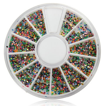 Shiny Nail Art Decoration Glitter Rhinestones Beads Wheel