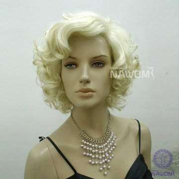 Classic Star Style Monroe Cosplay Women Short Curly Hair Wig