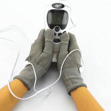 Massageador acupuntura terapia digital com par de luvas de eléctrodos