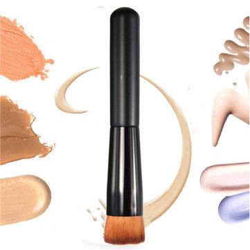 แปรงแต่งหน้าแบบแบน 1pcs เครื่องสำอางค์ Face Blush Foundation Cream Powder