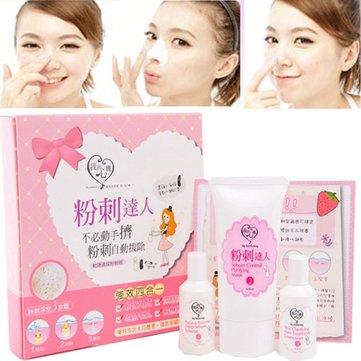 Face Nose Blackhead Removal Kit Pore Facial Peeling Shrinking Cleanser Set Tool