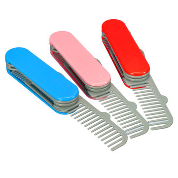 5 in 1 Multi-role Comb & Mirror Set 3 Colors to Choose Salon Girl Hair Care