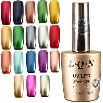 US$9.84 31% 18 Colors 15ml Soak Metallic Metal Nail UV Gel Polish Nail Art from Health & Beauty on banggood.com
