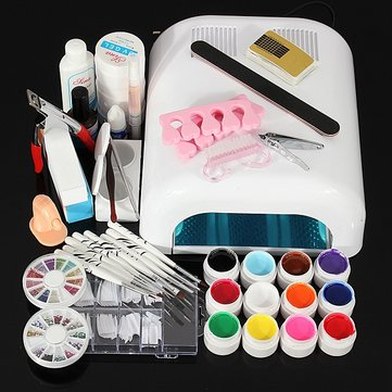 110V 36W Nail Art UV Gel Dryer Lamp Manicure Tool Kit Set