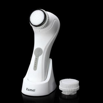 KEMEI-6066 Waterproof Ultrasonic Electric Facial Body Cleaning Brush