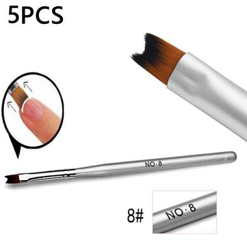 5Pcs Nail Painting Drawing French Manicure Phototherapy Pen Brush